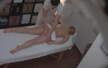 Czech Blonde Enjoys Fucking On Massage Table