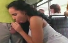 Laura Lion fucked in bus
