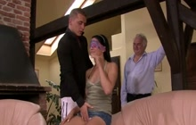 Czech beauty fucked in front of her man