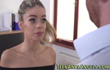 Teen european gets anally pounded