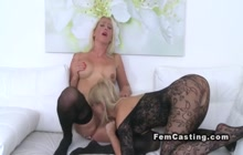 Female agent having fun with Czech babe